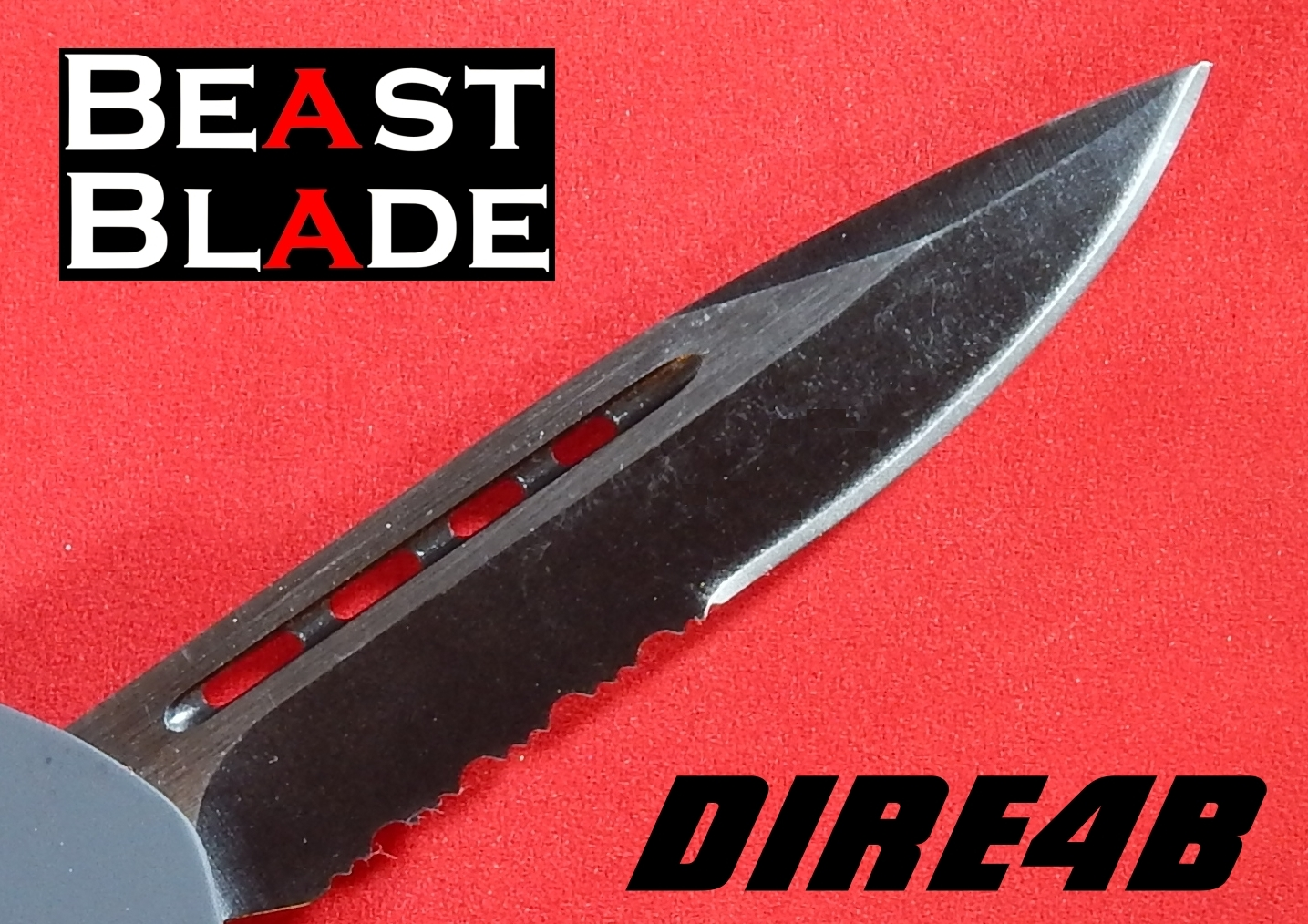 7 Inch Drop Point, Single Edge, Partially Serrated