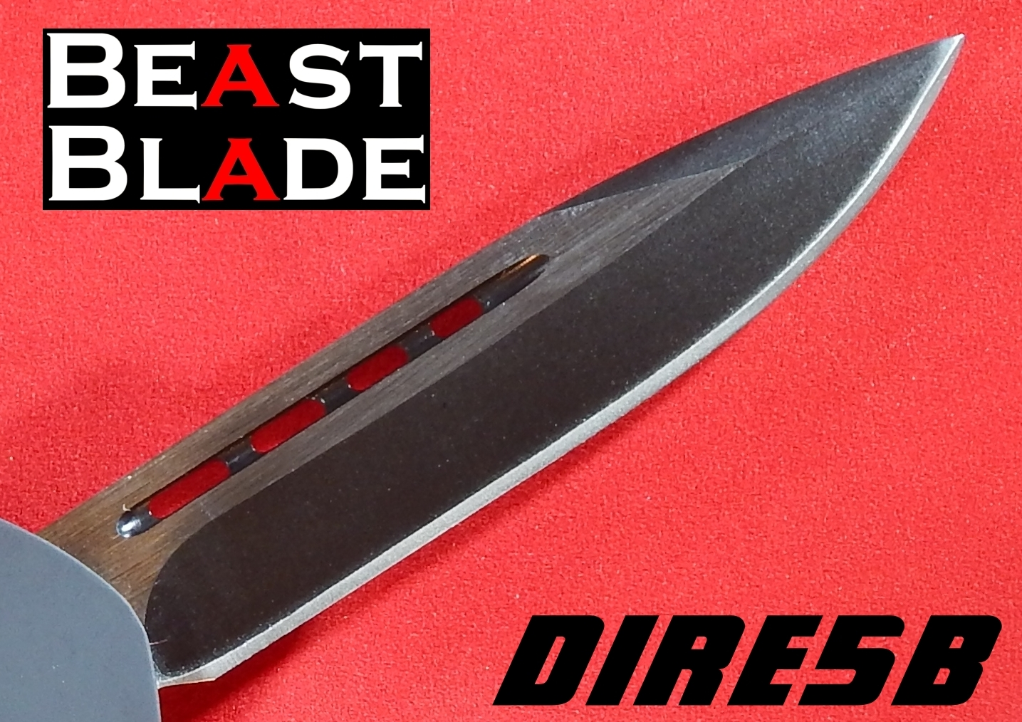 9 Inch Drop Point, Single Edge, Straight Blade