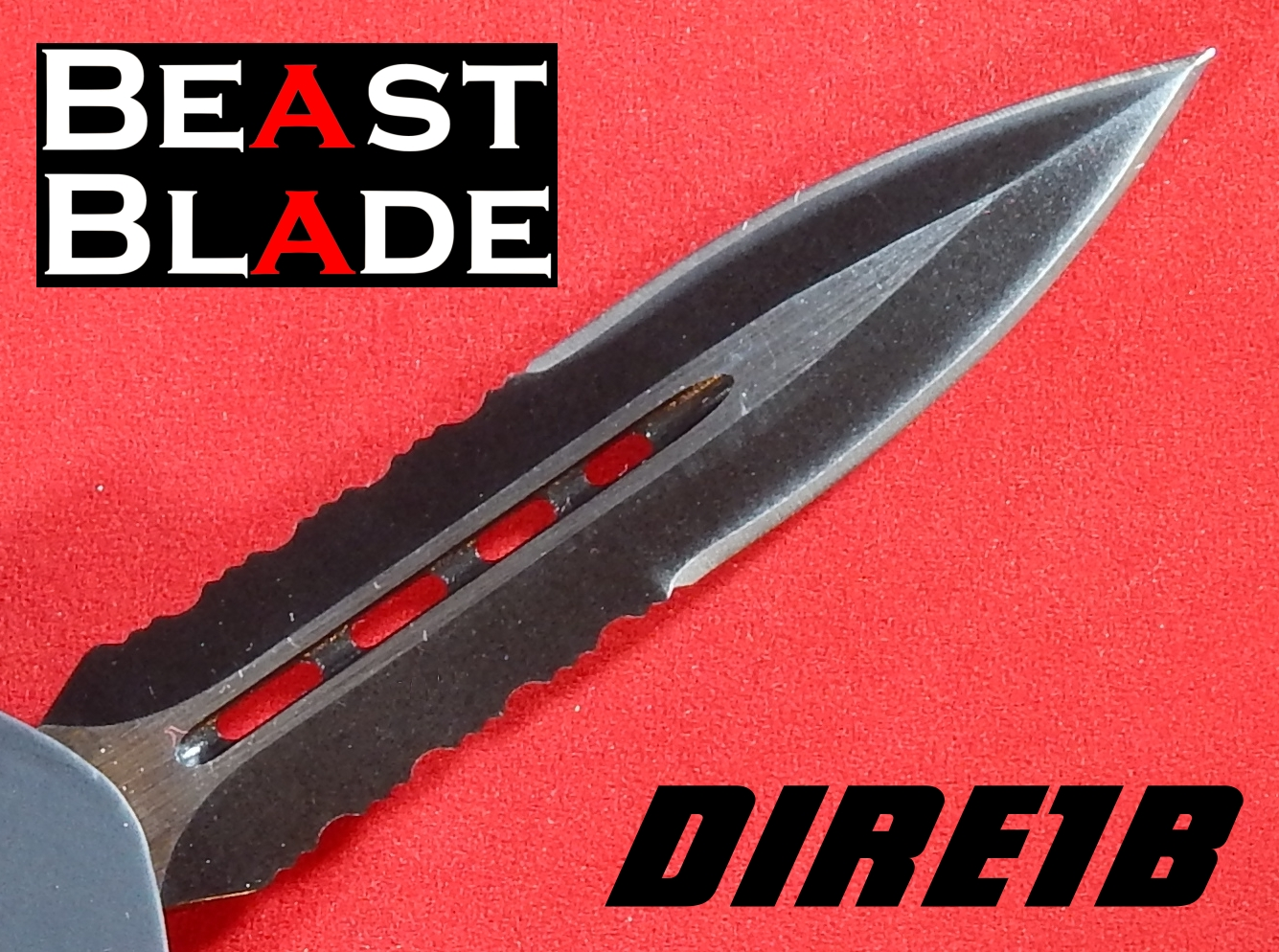 9 Inch Dagger, Double Edged, Partially Serrated