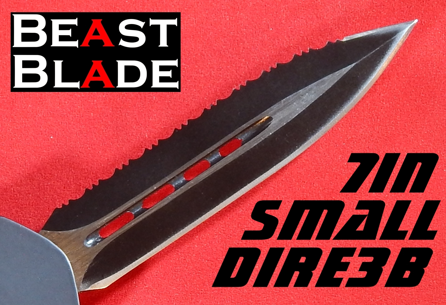 7 inch Dagger, Double Edge, Straight & Serrated Edges