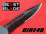 9 Inch Drop Point, Single Edge, Partially Serrated